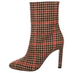 New Oscar De La Renta Fall 2019 Plaid Booties Boots Size 37 $1525