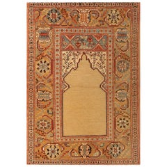 New Ottoman Transitional Copper and Red Wool Rug