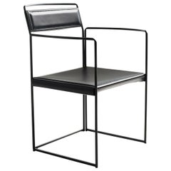 New Outline Black Chair with Armrests by Alberto Colzani