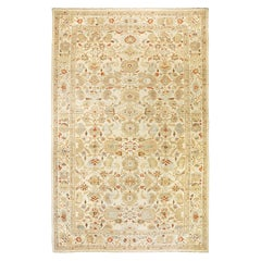 New Oversize Turkish Sultanabad Rug with Brown and Beige Botanical Details