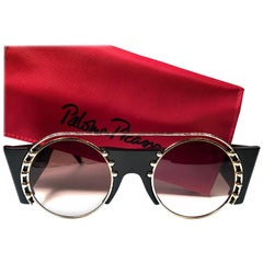 New Paloma Picasso Vintage Oval Black 3729 Lady Gaga Sunglasses Germany 1980