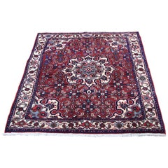 Persian Bijar Red Pure Wool Hand Knotted Oriental Rug