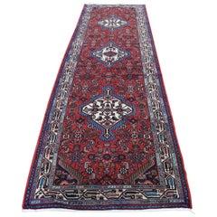 Persian Hamadan Pure Wool Runner Hand Knotted Oriental Rug