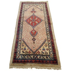 New Persian Serab, Geometric Design, Rust on Camel, Wool, Runner, 2-10x6-2, 2010