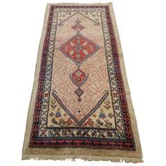 New Persian Serab, Geometric Design, Rust on Camel, Wool, Short Runner, 2010