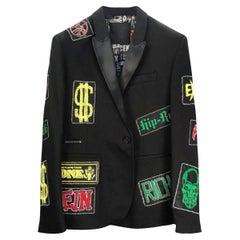 NEW PHILIPP PLEIN BLACK BLAZER JACKET FROM Celebrity closet 56 - 3XL