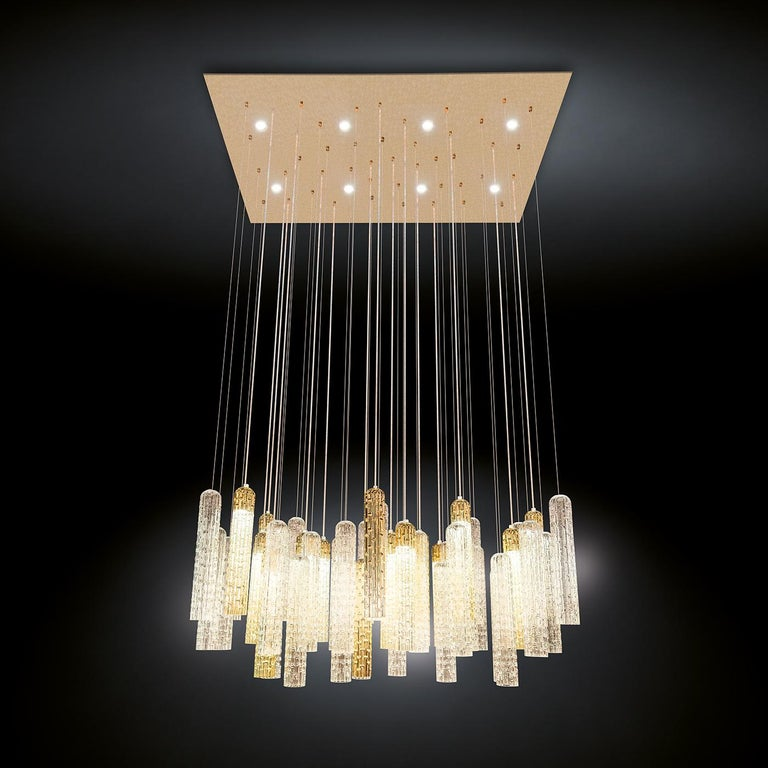 New Pipe Chandelier In New Condition For Sale In Milan, IT