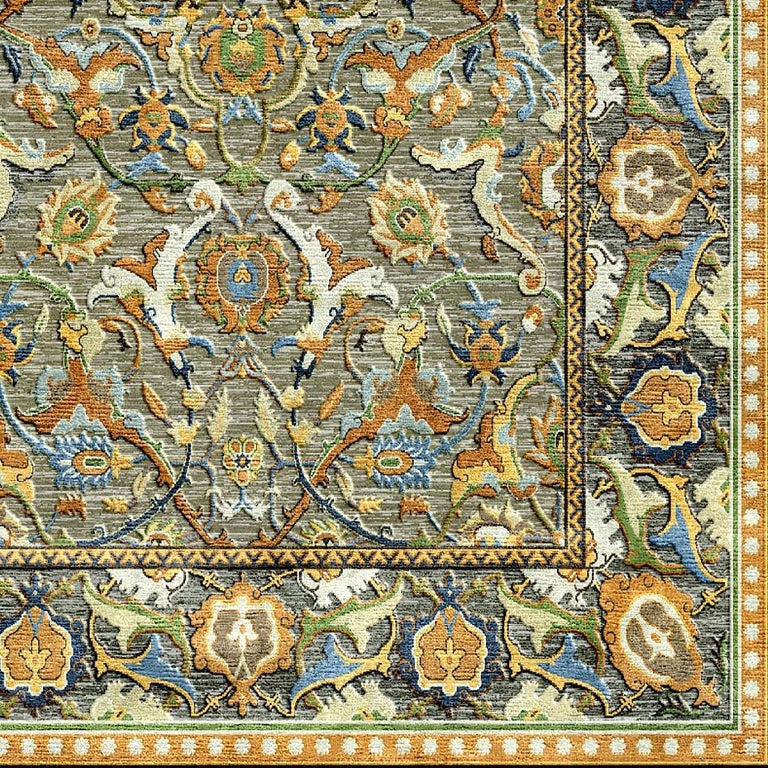 Renaissance New Polonaise Rug Silk and Wool Antique Isfahan Design Bespoke Sizes For Sale