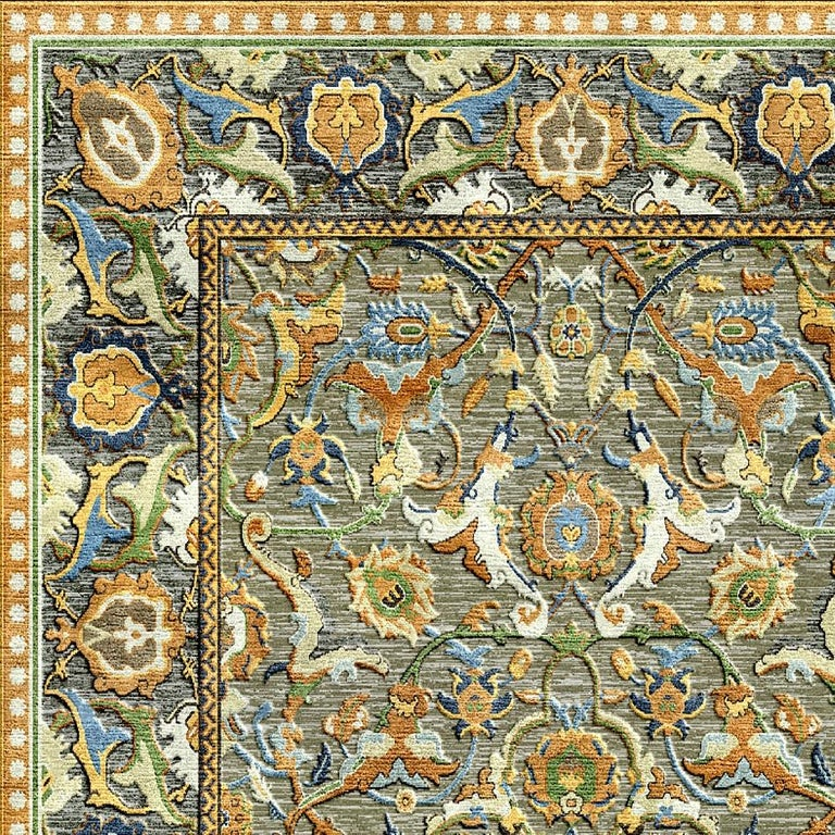 Hand-Knotted New Polonaise Rug Silk and Wool Antique Isfahan Design Bespoke Sizes For Sale
