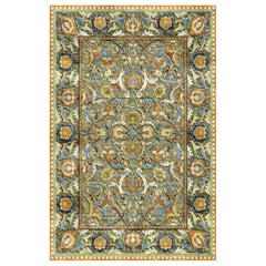 New Polonaise Rug Silk and Wool Antique Isfahan Design Bespoke Sizes