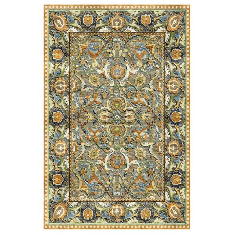 New Polonaise Rug Silk and Wool Antique Isfahan Design Bespoke Sizes For Sale