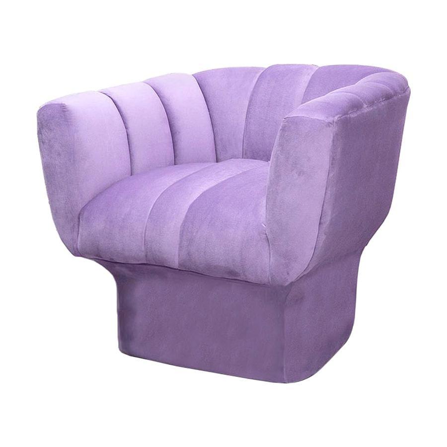 New Postmodern Style Purple Velvet Accent Chair Beirut