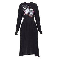 new PRADA 2019 Runway Frankenstein Couple black cotton layered skirt dress L