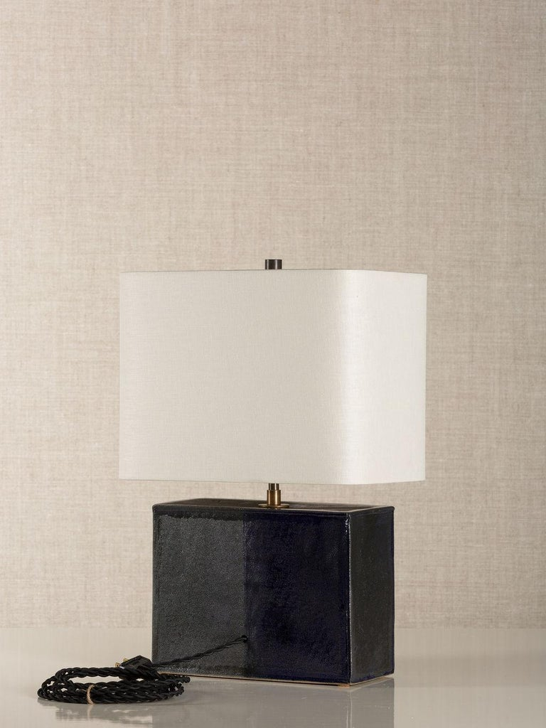 Modern New Preston Lamp, Ceramic Sculptural Table Lamp by Dumais Made For Sale