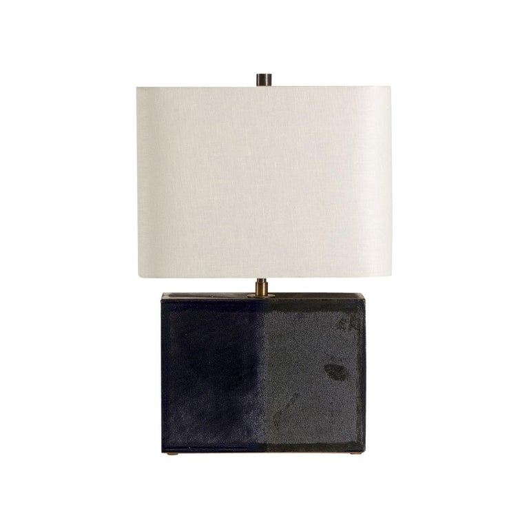 New Preston Lamp, Ceramic Sculptural Table Lamp by Dumais Made For Sale