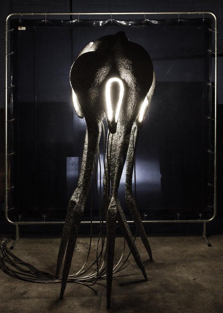 New Primitives Floor Lamp in Aluminum Post-Digital Sculptural Design by Mtharu For Sale 3