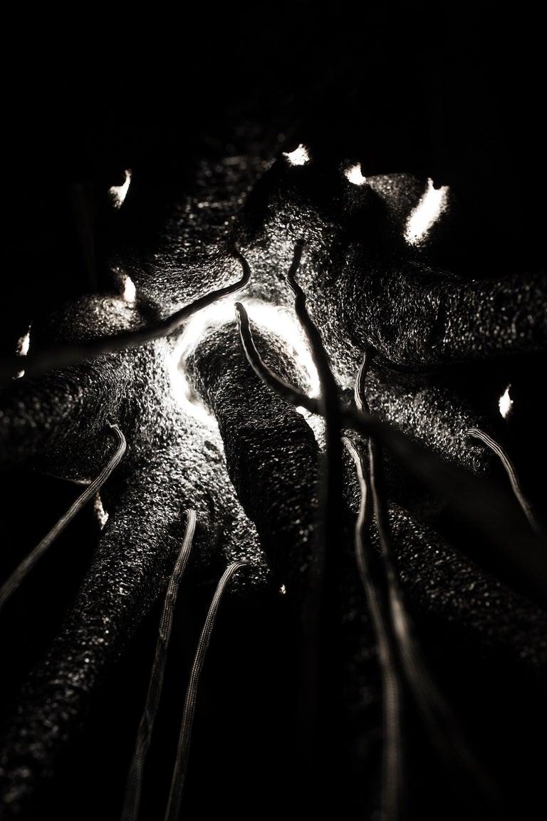 New Primitives Floor Lamp in Aluminum Post-Digital Sculptural Design by Mtharu For Sale 5