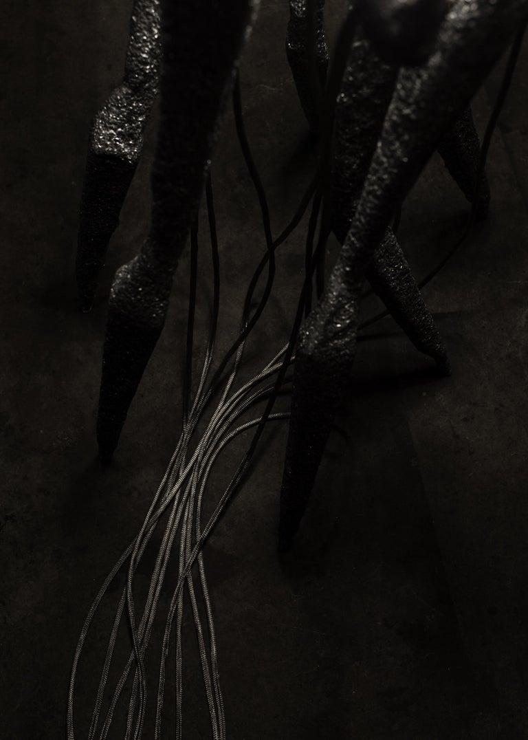 New Primitives Floor Lamp in Aluminum Post-Digital Sculptural Design by Mtharu For Sale 8