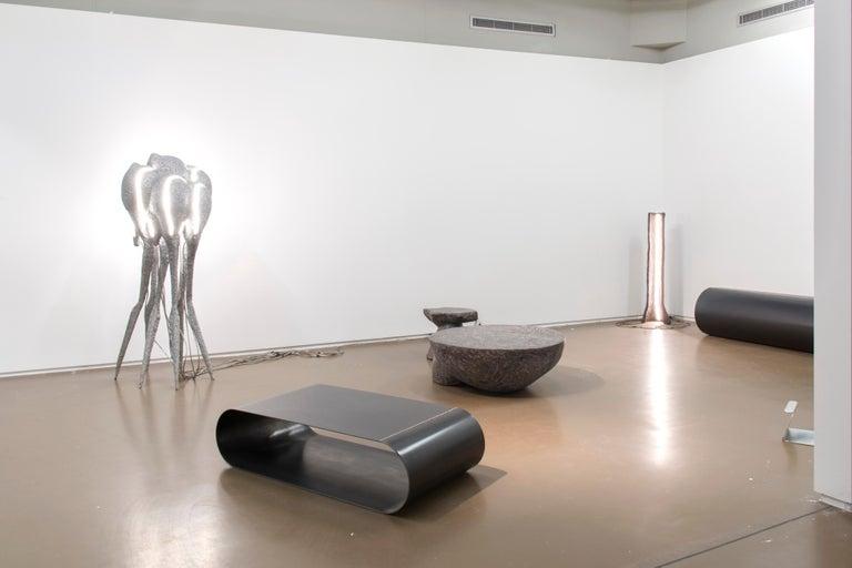 Canadian New Primitives Floor Lamp in Aluminum Post-Digital Sculptural Design by Mtharu For Sale
