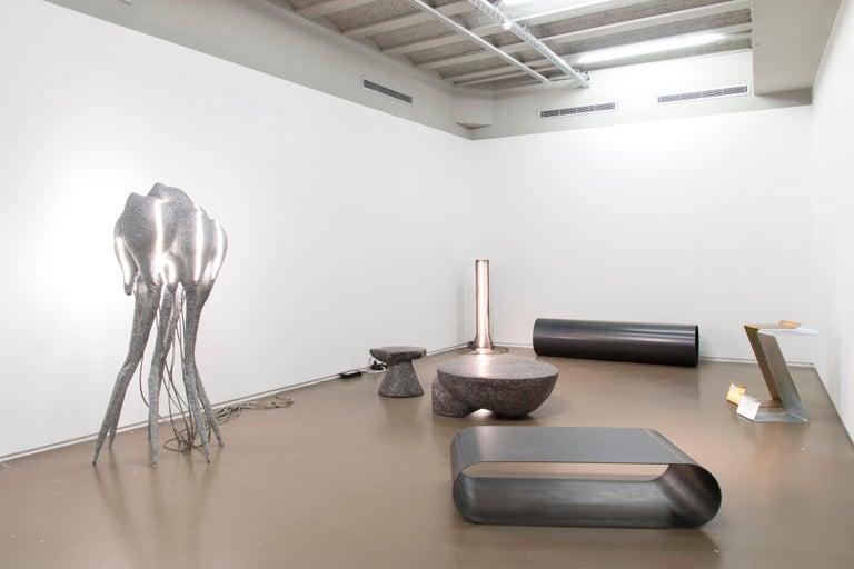 Appliqué New Primitives Floor Lamp in Aluminum Post-Digital Sculptural Design by Mtharu For Sale
