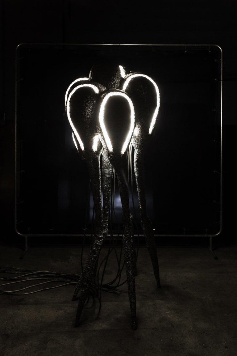 New Primitives Floor Lamp in Aluminum Post-Digital Sculptural Design by Mtharu For Sale 2