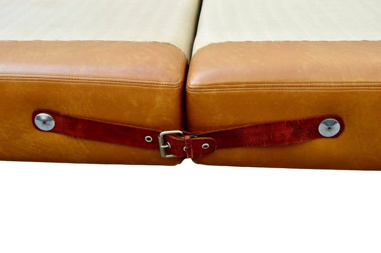 Contemporary New Production Leather King Bed in the Style of Guido Faleschini for Pace For Sale