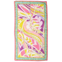 New Pucci Cotton Geometric Print Scarf