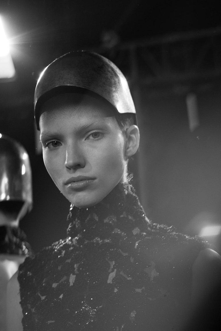 New Rare Alexander McQueen Limited Edition Runway Brass Helmet W/ Tags S/S 2014  14
