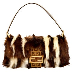 New Rare Fendi Fur Baguette Bag Featured in the 15th Anniversary Book Lt Edition