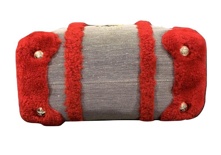 New Rare Fendi Squirrel Fall 2005 Shearling Runway Bag $3950 For Sale 5