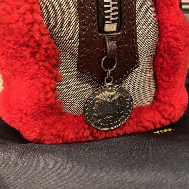 New Rare Fendi Squirrel Fall 2005 Shearling Runway Bag $3950 For Sale 7