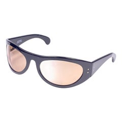 "New Rare Fidela "" Sporting "" Wrap Around Black 1970's Sunglasses"