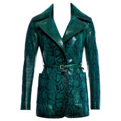 New Rare Gucci 90th Anniversary Python Snakeskin Jacket Coat Blazer Sz40 $14,650