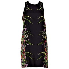 New Rare Gucci Black Flora Silk Dress S/S 2013 Sz 40 $1475