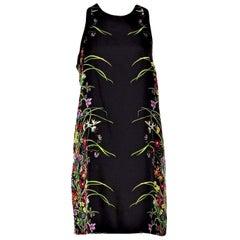 New Rare Gucci Black Flora Silk Dress S/S 2013 Sz 40 $1475