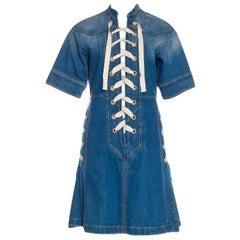 New Rare Gucci Runway Ad Denim Dress S/S 2015 Sz 38 $1950
