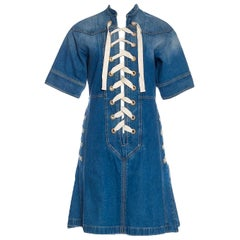 New Rare Gucci Runway Ad Denim Dress S/S 2015 Sz 38 $1950