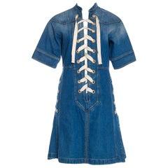 New Rare Gucci Runway Ad Denim Dress S/S 2015 Sz 38 $2950