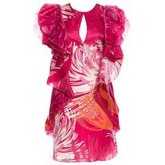 New Rare Gucci Runway Ad Silk Dress S/S 2013 Sz 40 $3499