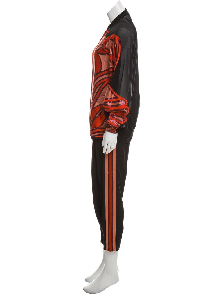 New Rare Gucci Runway Ad Silk Pantsuit Suit & Pants S/S 2014 Sz 44/38 U.S. 6/8 For Sale 2