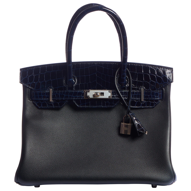New RARE Hermes Birkin 30 Crocodile Novillo Bag in Box