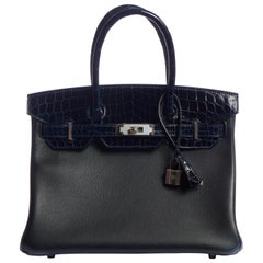 New RARE Hermes Birkin 30 Crocodile Novillo Bag in Box