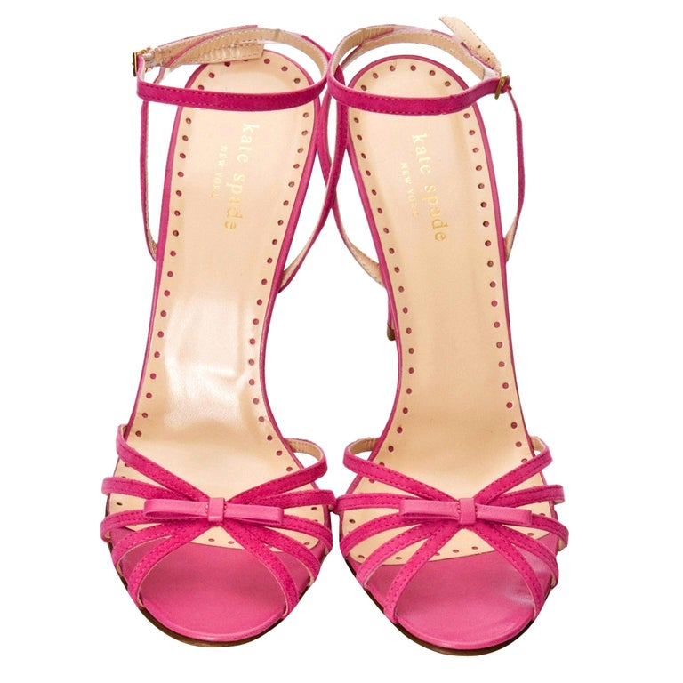 New Rare Kate Spade Spring 2005 Collectible Suede and Leather Heels Sz 10 For Sale
