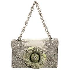 New Rare Oscar De La Renta Lizard Tro Bag With Box & Tags $2890