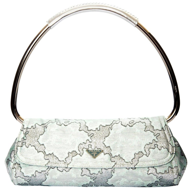 New Rare Prada Limited Edition Lurex Swing Corset Bag For Sale
