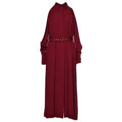 New Rare Salvatore Ferragamo Red Silk Dress F/W 2018  With Tags $3200 Sz 38