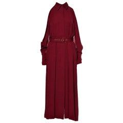New Rare Salvatore Ferragamo Red Silk Dress F/W 2018  With Tags $3200 Sz 42