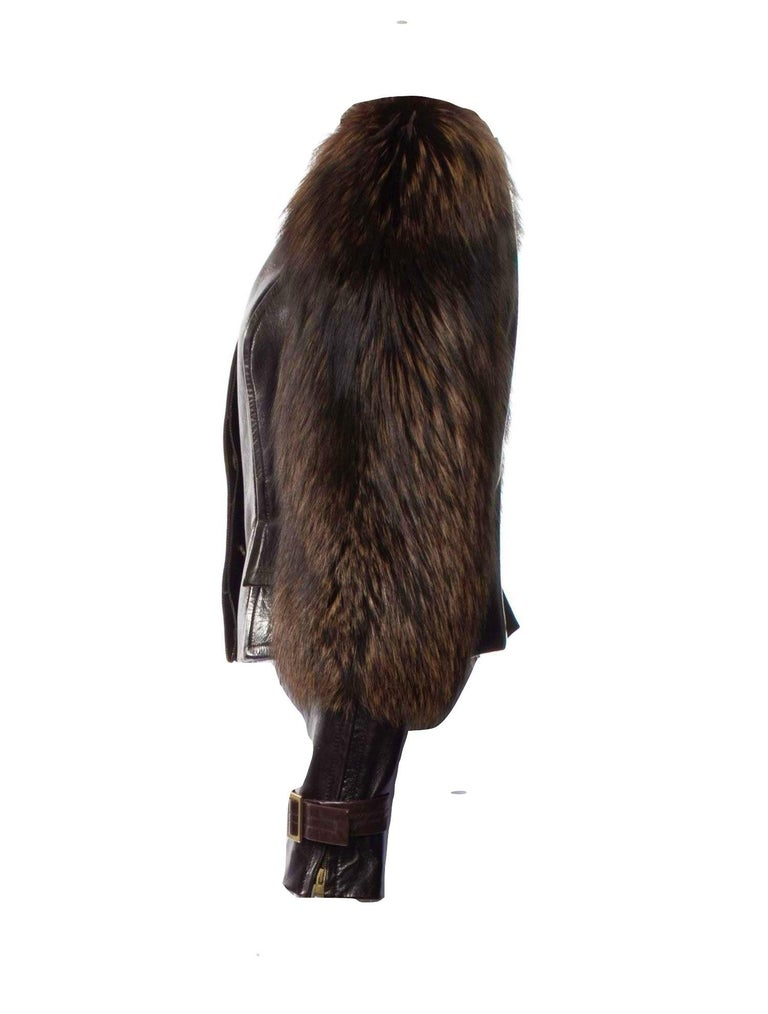 New Rare Tom Ford for Gucci F/W 2003 Fox Fur Runway Ad Jacket Coat Sz 40 $9,650 For Sale 1