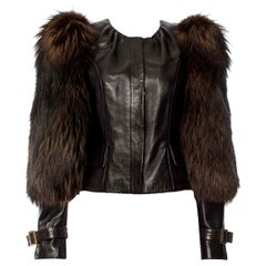 New Rare Tom Ford for Gucci F/W 2003 Fox Fur Runway Ad Jacket Coat Sz 40 $9,650
