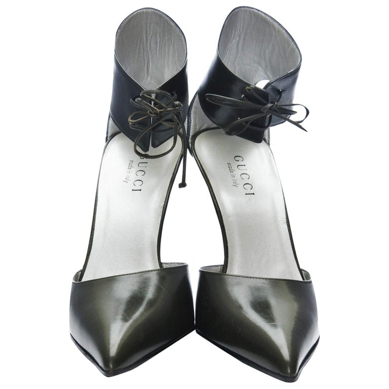 New Rare Tom Ford for Gucci Kate Moss Ad Runway Heels Pumps Sz 40 For Sale